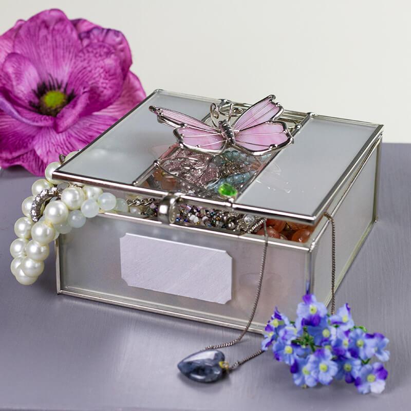 Personalised Butterfly Trinket Box