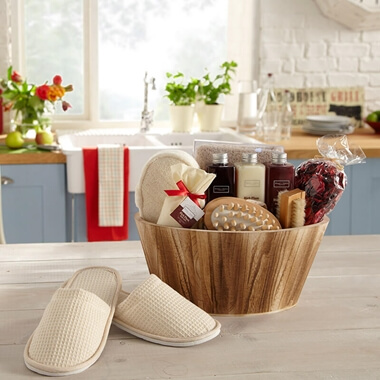Winter in Venice - Rich Plum Oval Wooden Bowl