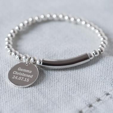 Personalised Pendant Christening Bracelet