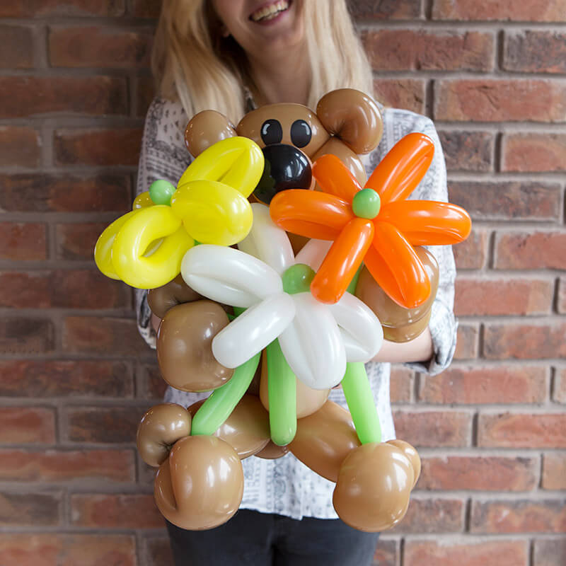 Balloon Bear & Flowers