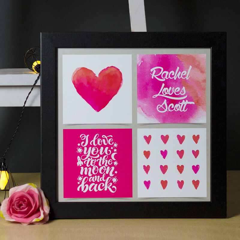 Personalised To The Moon & Back Print