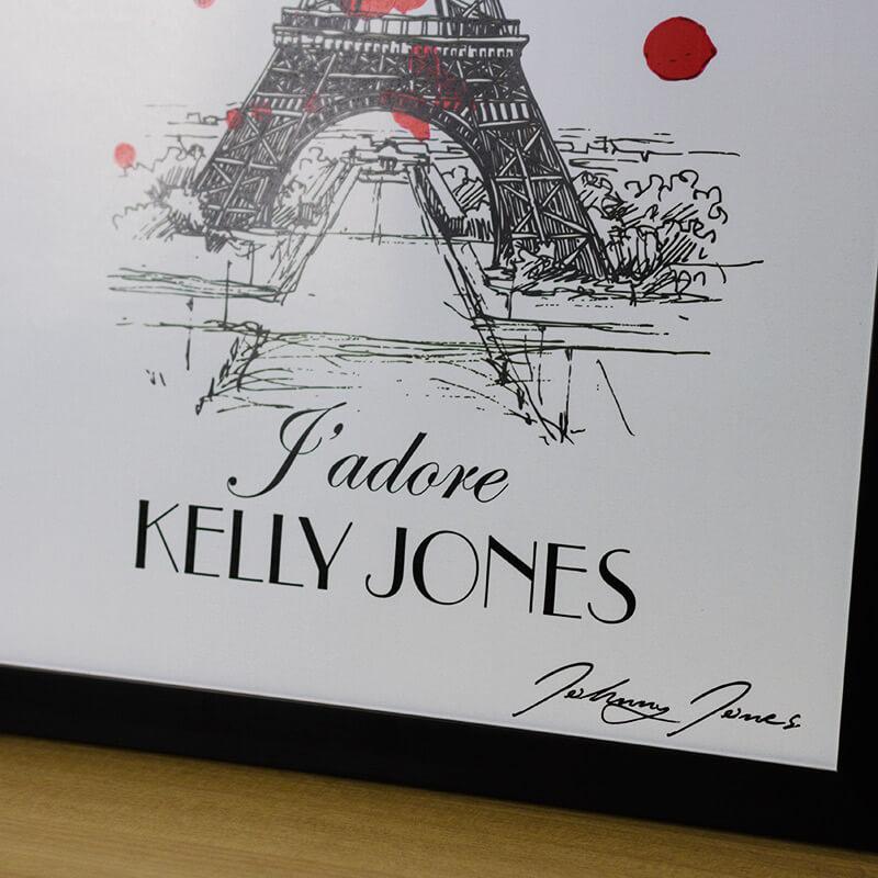 Personalised Jadore Print