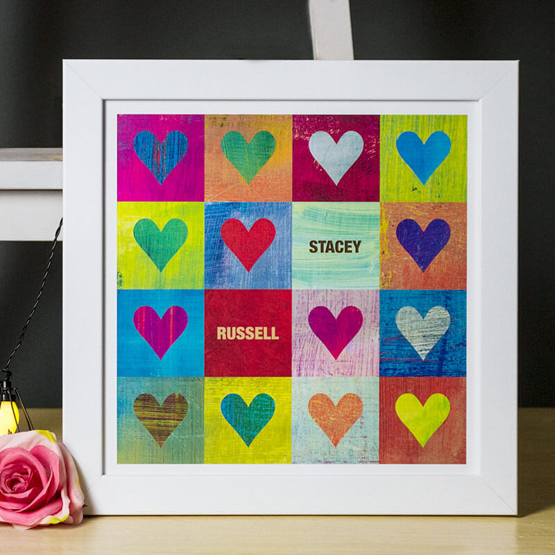 Personalised I Heart You Print