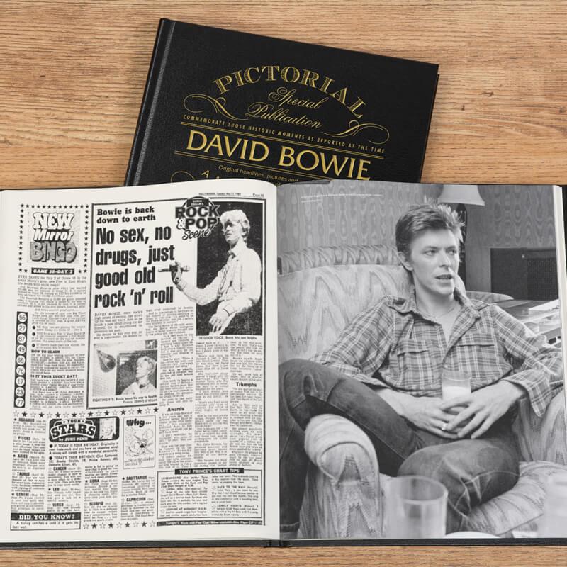 Personalised David Bowie Pictorial Newspaper Book