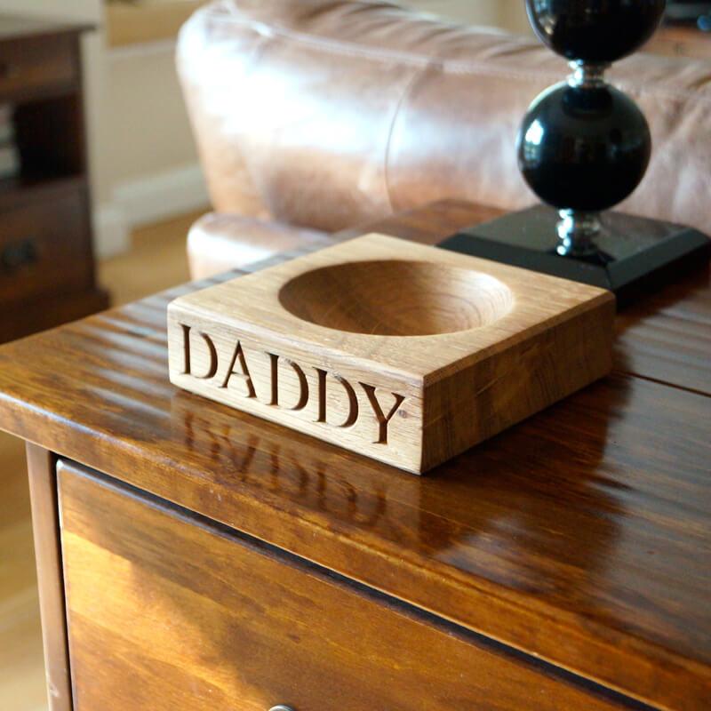 Personalised Wooden Key Bowl