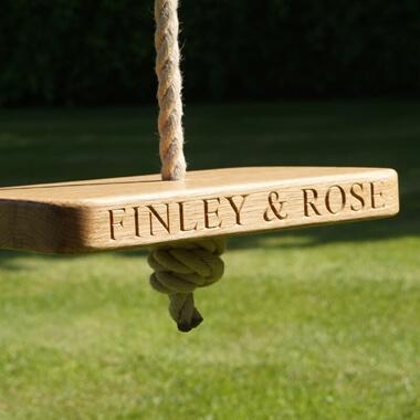 Personalised Wooden Monkey Swing