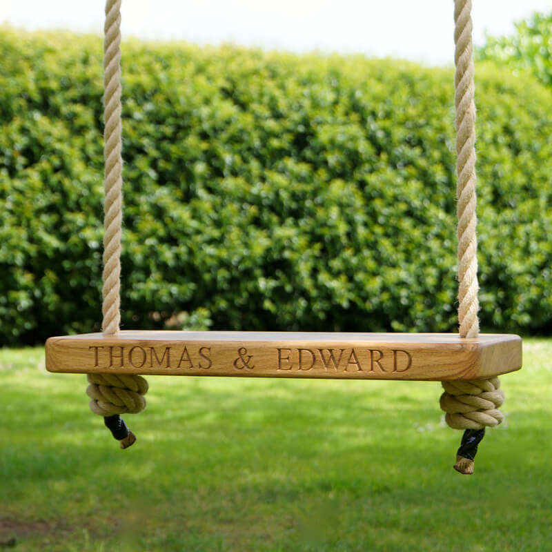 Personalised Wooden Swing