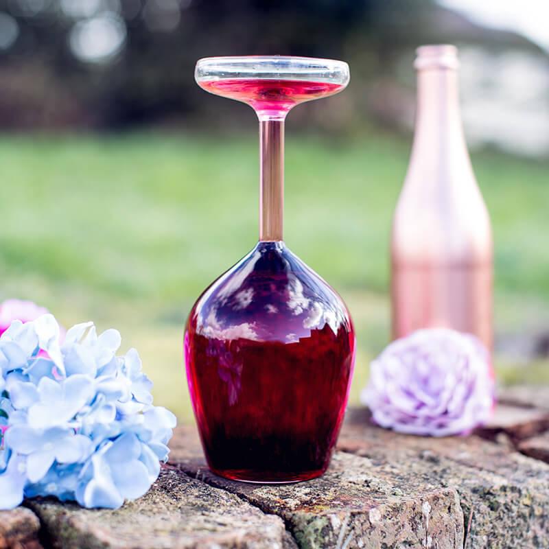Giant Upside Down Wine Glass