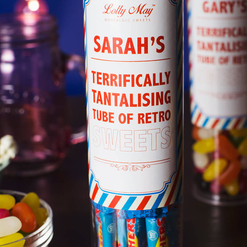 Personalised Sweet Tubes