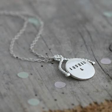 Personalised Spinning Necklace