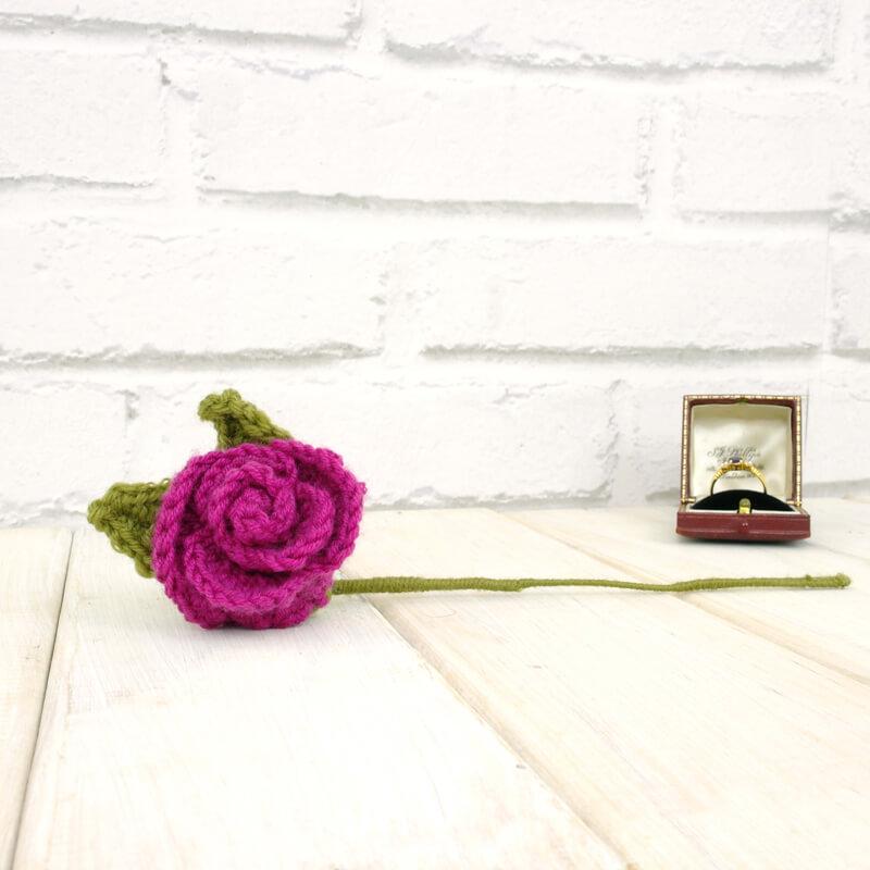 Personalised Crochet Eternal Rose