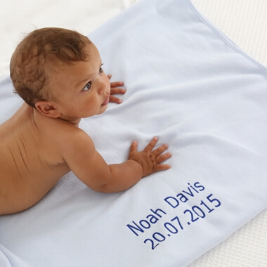 Personalised Baby Fleece Blanket