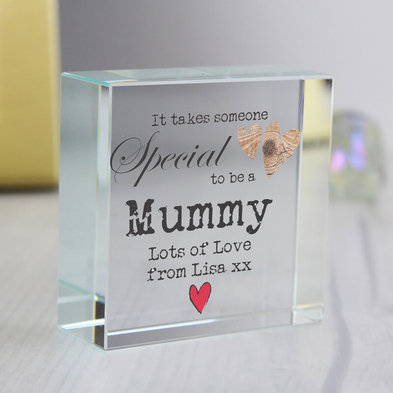 Personalised Someone Special Crystal Block
