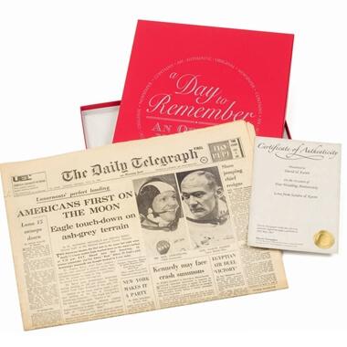 Original Newspaper 21st Birthday in a Gift Box
