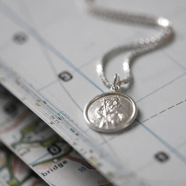 Personalised St Christopher Necklace