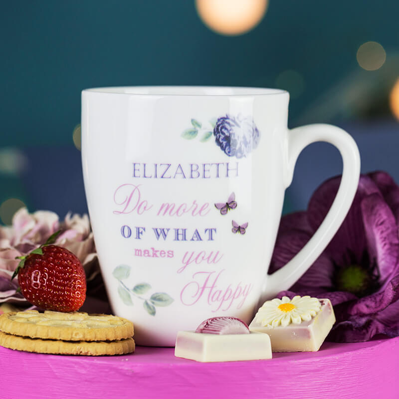 Personalised Secret Garden Latte Mug