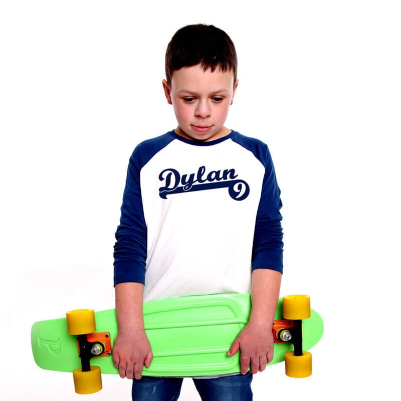 Personalised Child's Baseball T-shirt