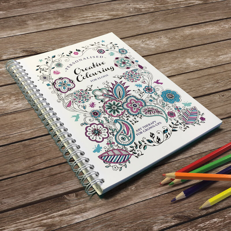 Personalised A5 Colouring Book