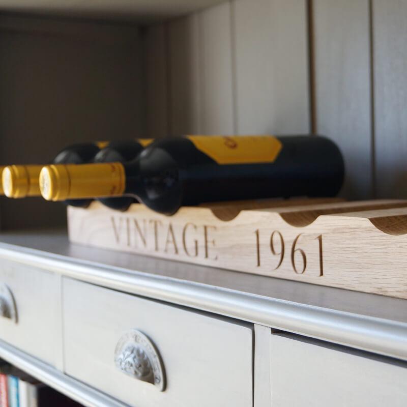 Personalised Oak Wine Rack