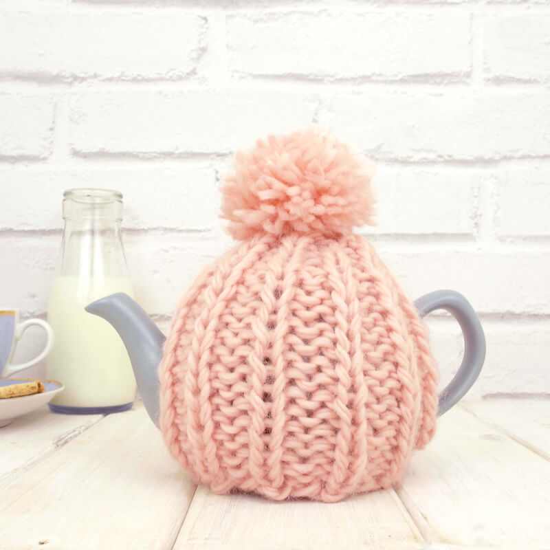 Personalised Hand Knitted Tea Cosy & Teapot