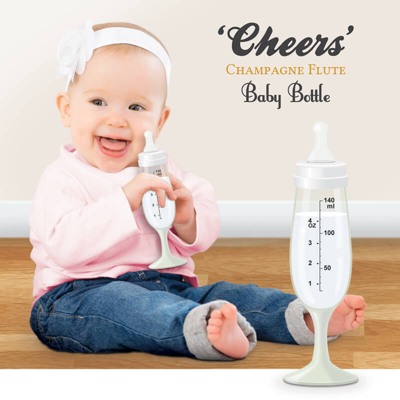 Champagne Flute Baby Bottle
