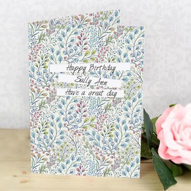 Personalised Botanical Print Card