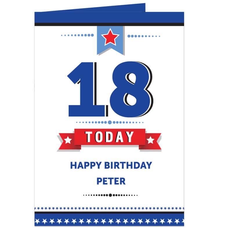 Personalised Birthday Star Card