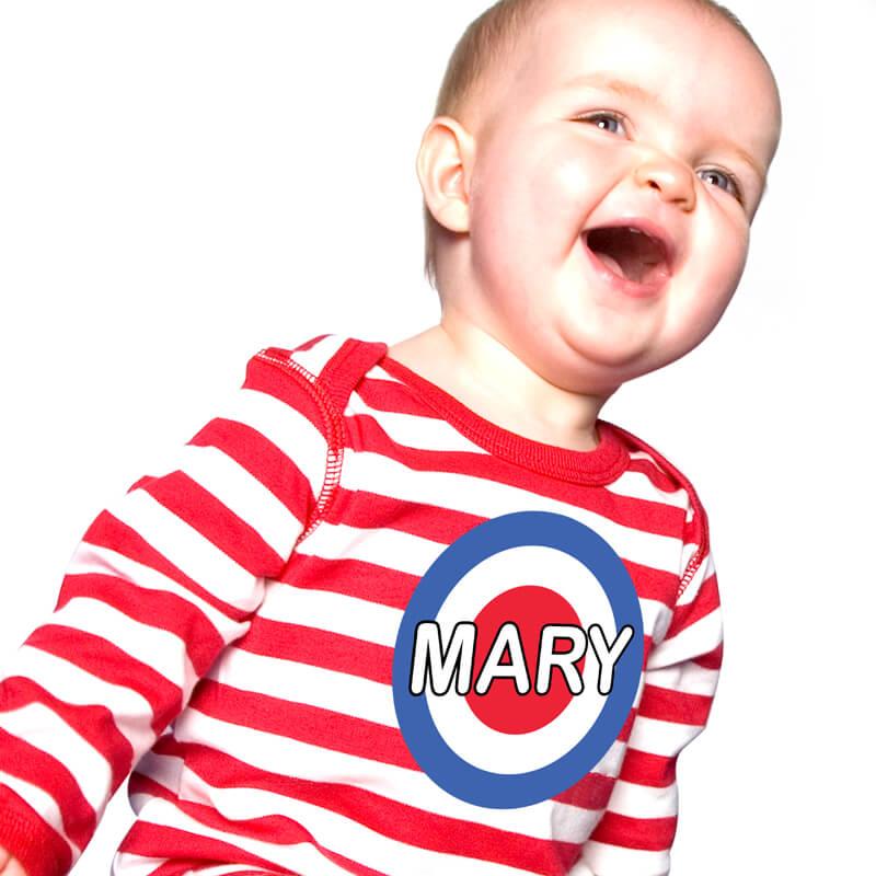 Personalised Mini Mod Baby Grow