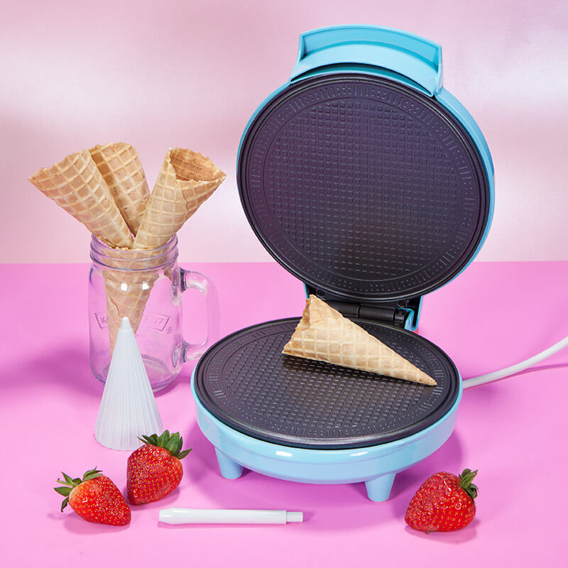 Vintage Tea Party Ice Cream Cone And Waffle Dish Maker