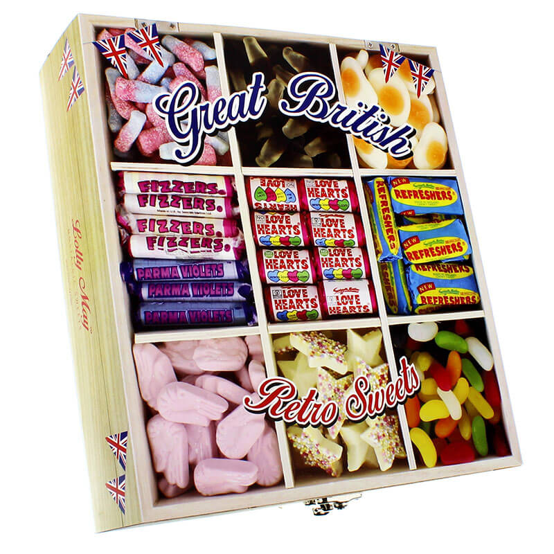 Personalised Great British Retro Sweet Box