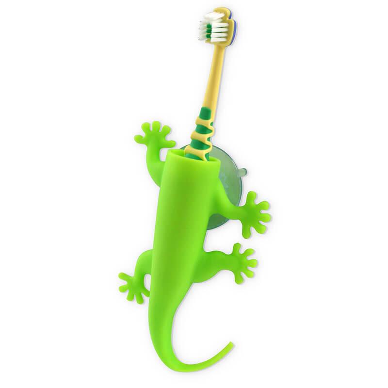 Larry Lizard Toothbrush Holder - Green