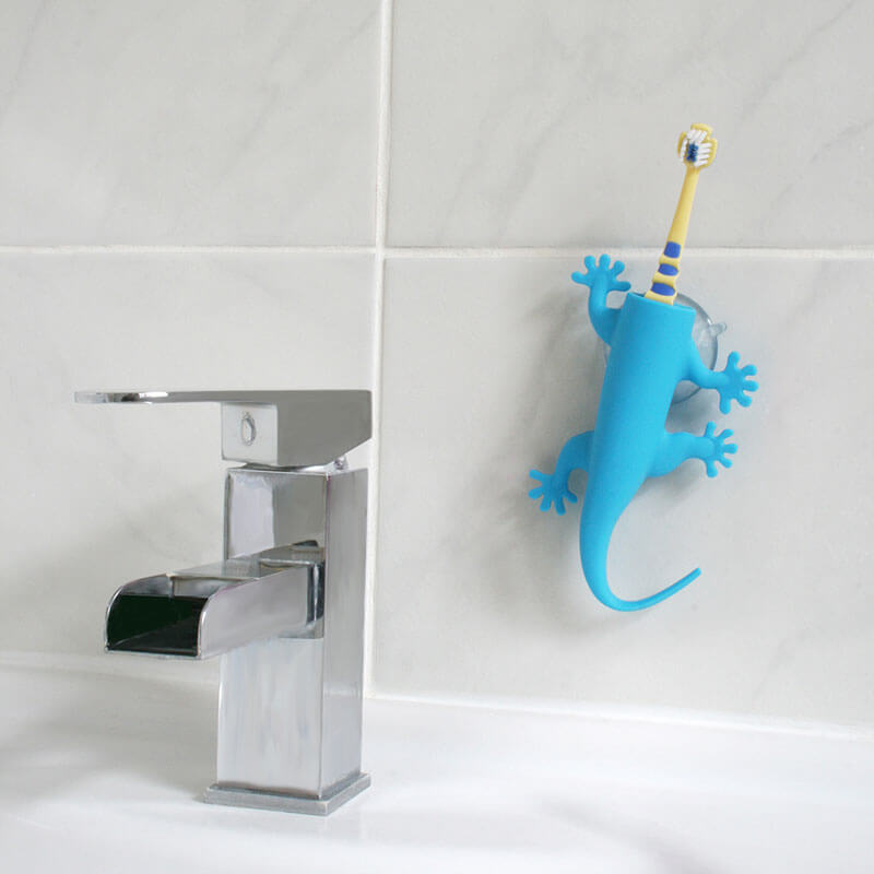 Larry Lizard Toothbrush Holder - Blue