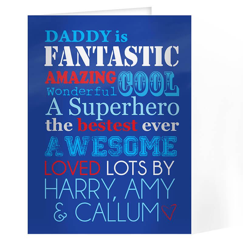 Personalised He Is... Card