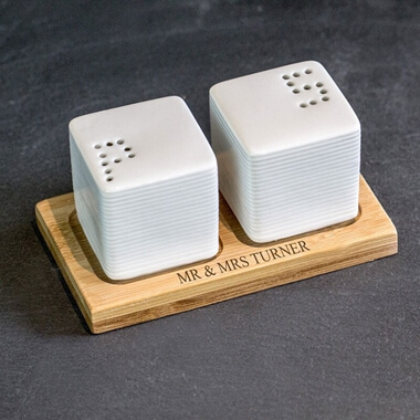 Personalised Mr and Mrs Salt and Pepper Set