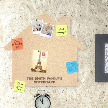 Personalised Cork House Pin Board