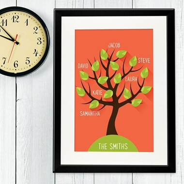 Personalised Family Tree Framed Poster