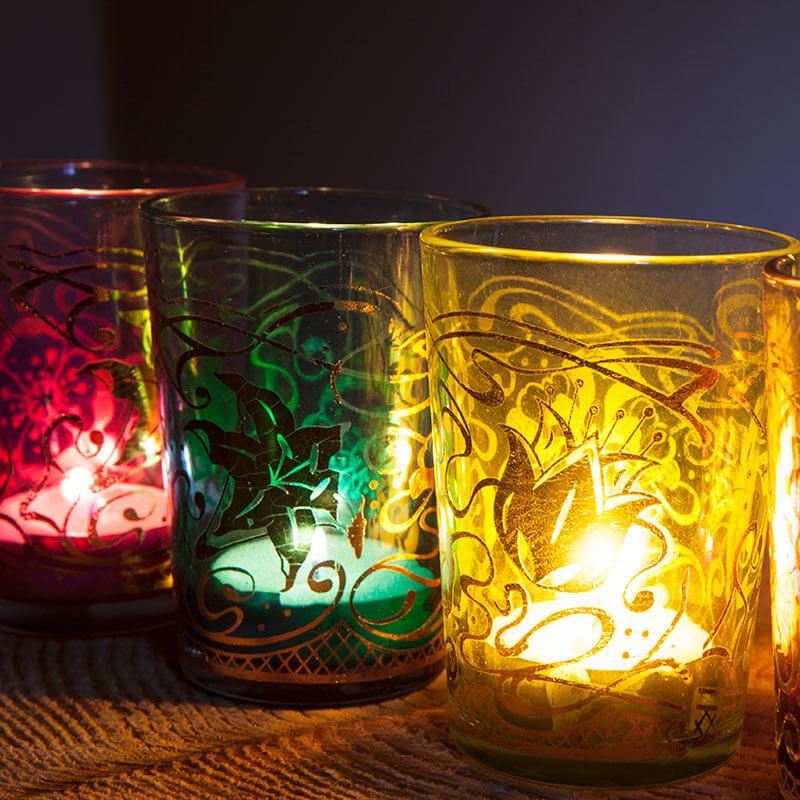 Moroccan Tea Light Holders - Set Of 4