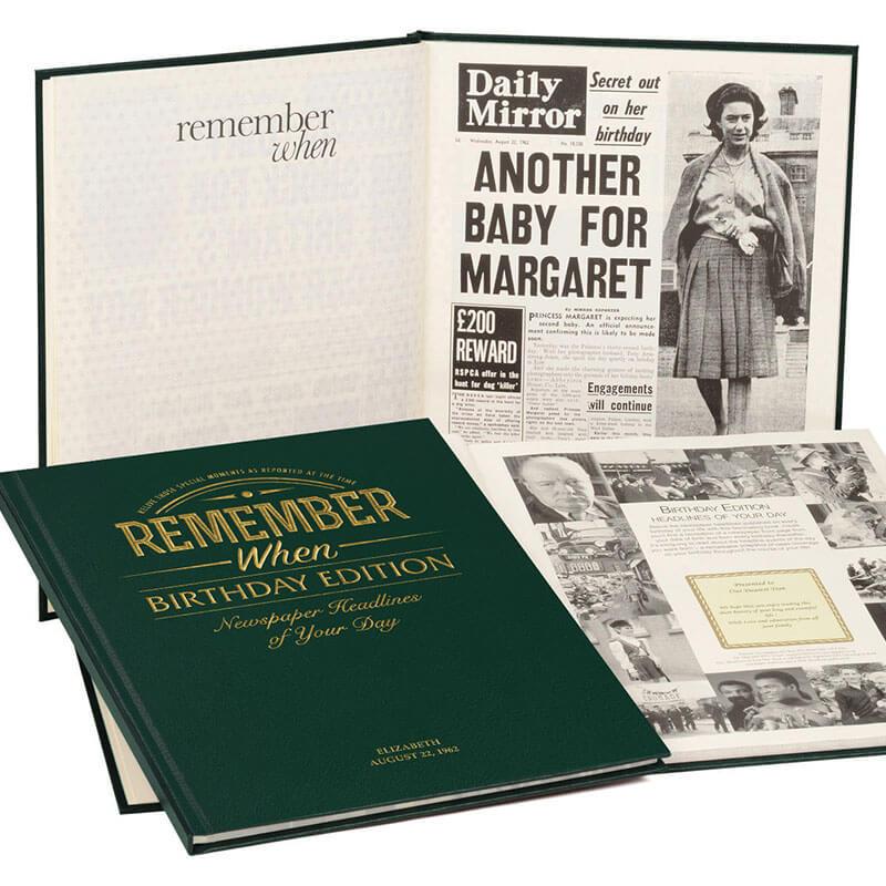 Personalised Newspaper Book - Birthday Edition