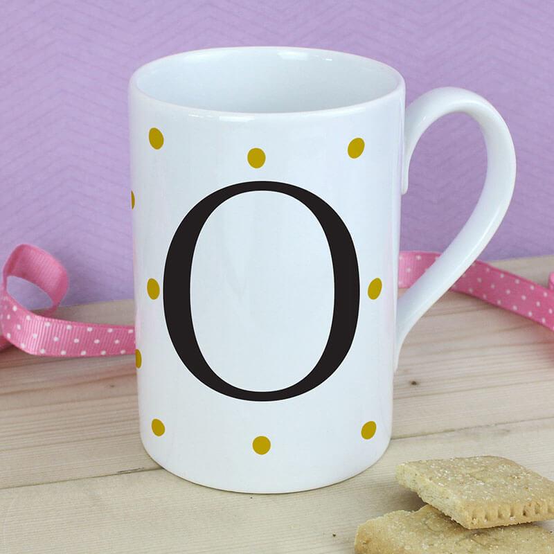 Personalised Gold Spot Mug