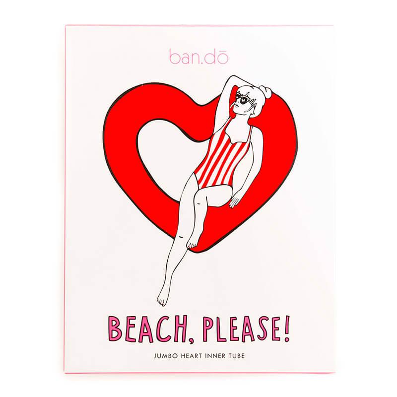 Beach Please! Jumbo Heart Inner Tube