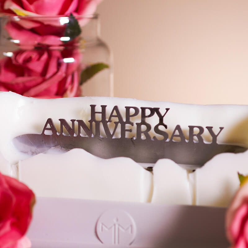 Melting Messages - Happy Anniversary Candle