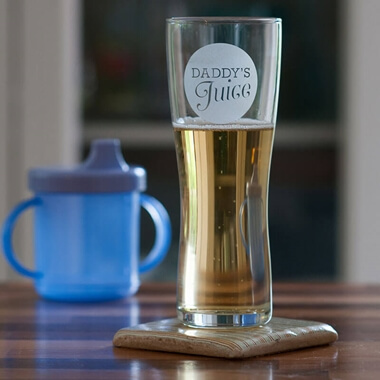 'Daddy's Juice' Beer Glass