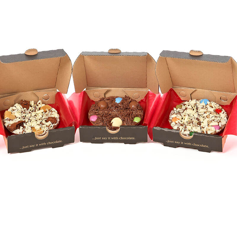 Mini Chocolate Pizza Gift Pack Buy From Prezzybox Com
