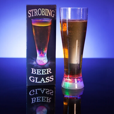 Strobing Beer Glass