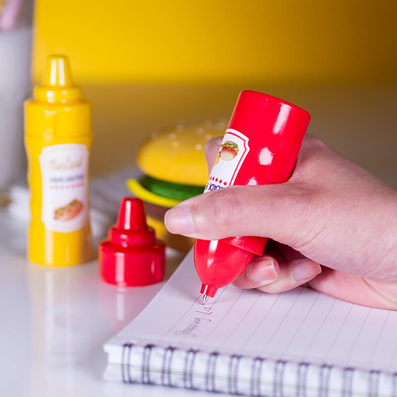 Ketchup Pen And Mustard Highlighter