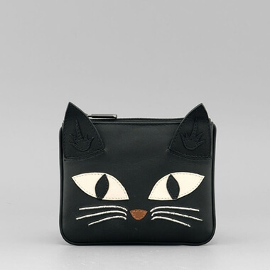Bruce the Cat Leather Coin Purse