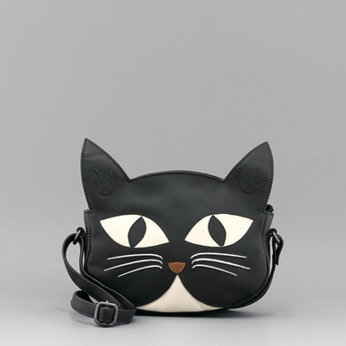 Bruce the Cat Cross Body Leather Bag