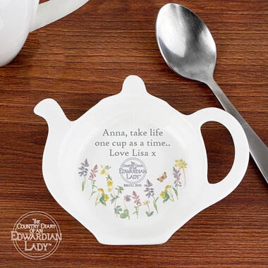 Personalised Wild Flowers Tea Bag Rest