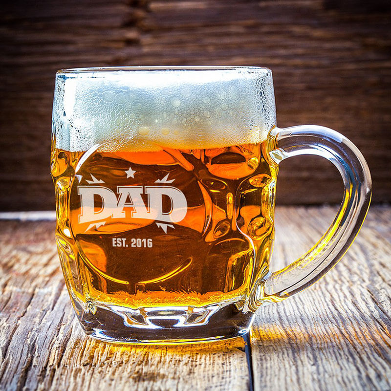 Personalised Dad's Dimple Pint Glass