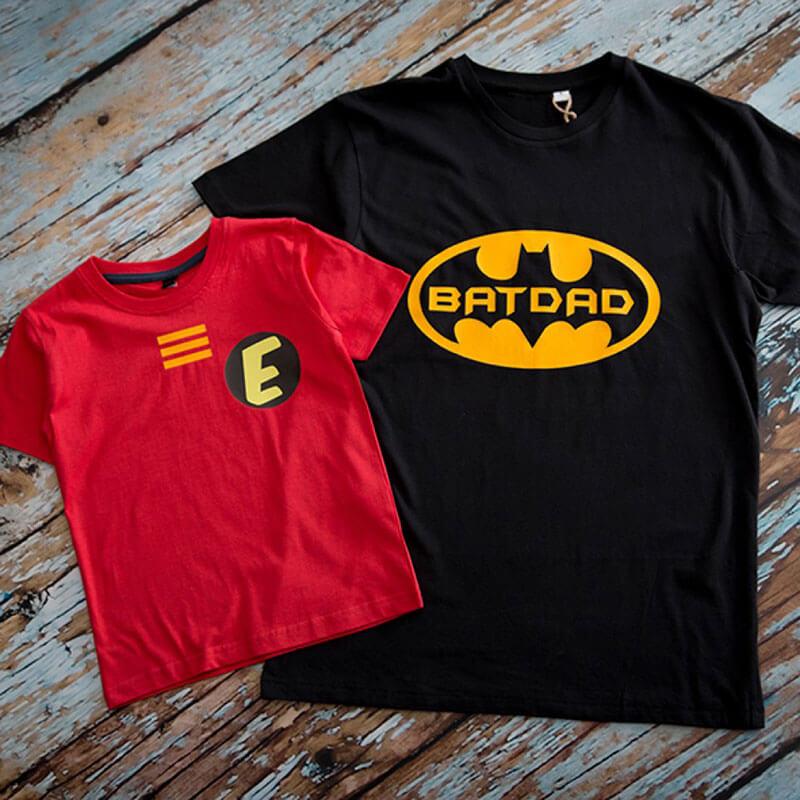 Batdad and Sidekick T-shirt Set